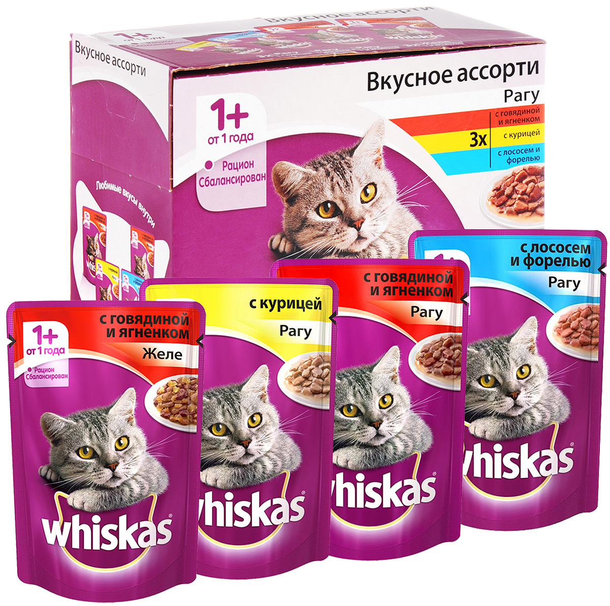 Корм для кошек Вискас (Whiskas)