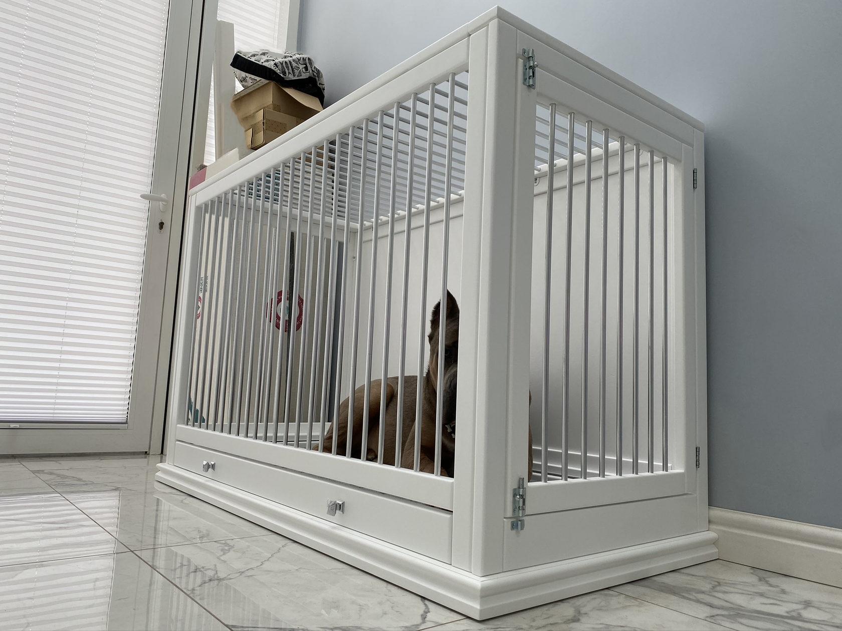 Вольер для собаки в квартиру: домашнее ограждение