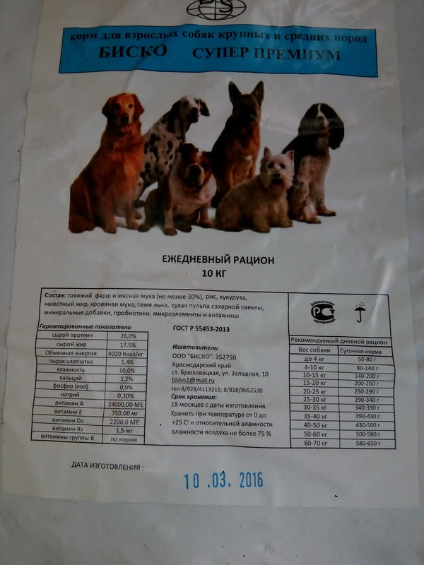 Биско (Bisco) – корм для собак