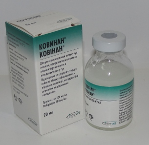 Инструкция по применению ветеринарного препарата Ковинан