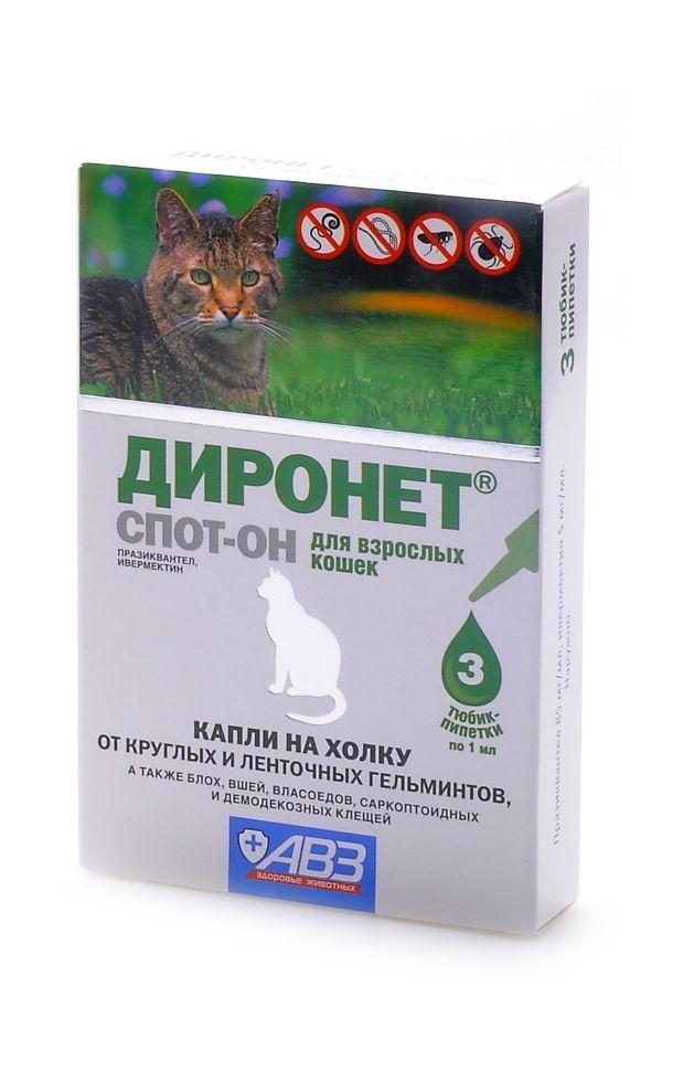 Препарат Диронет для кошек