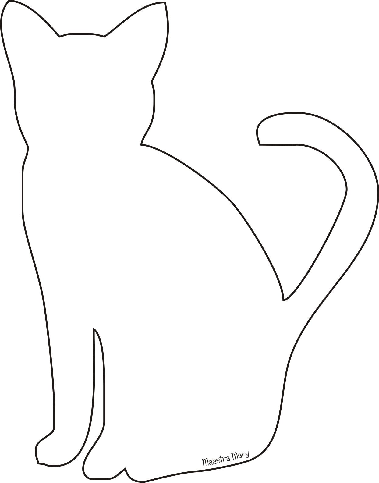 Силуэт кошки для вырезания