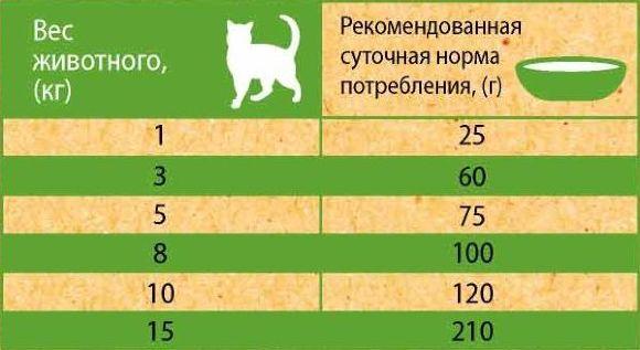 Нормы кормления кошек и котов сухим и влажным кормом