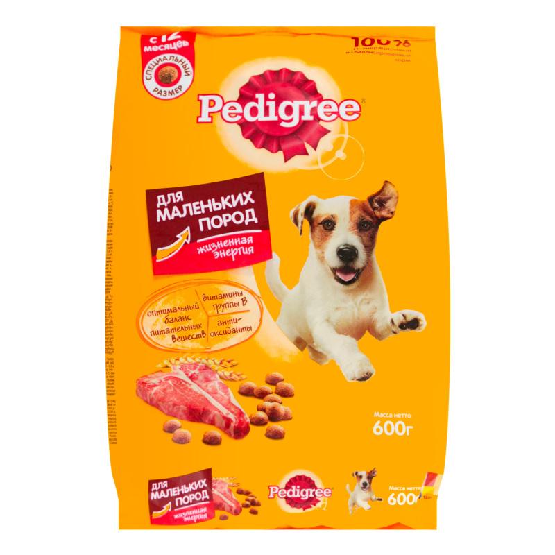 Педигри: корм для собак и щенков мелких и крупных пород