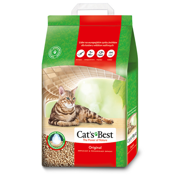 Наполнитель для кошачьего туалета Cats Best