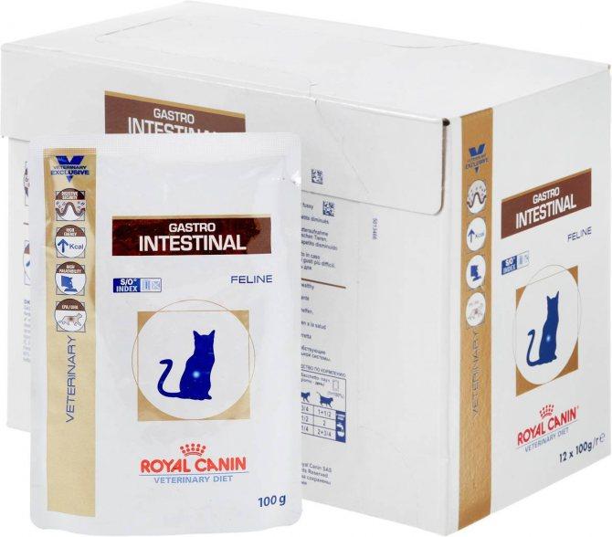 Роял Канин Гастро Интестинал для кошек: состав корма