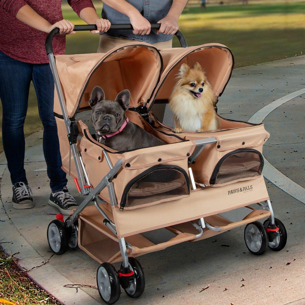 Коляска для собак: прогулочная тележка для мелких пород