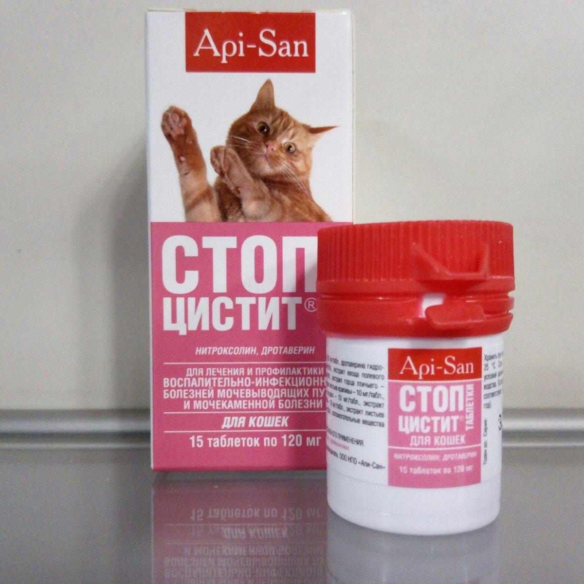 Стоп-цистит для кошек: таблетки и суспензия
