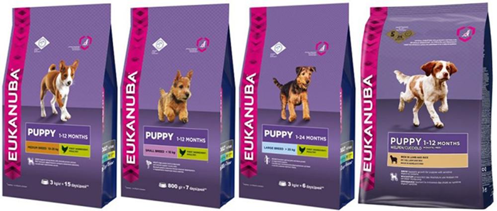 Эукануба: корм для собак мелких и крупных пород