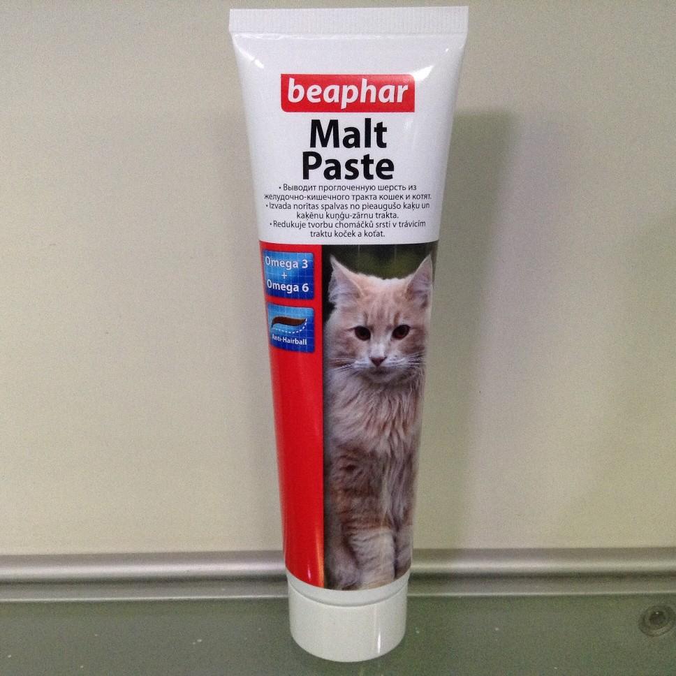 Паста для вывода шерсти для кошек из желудка