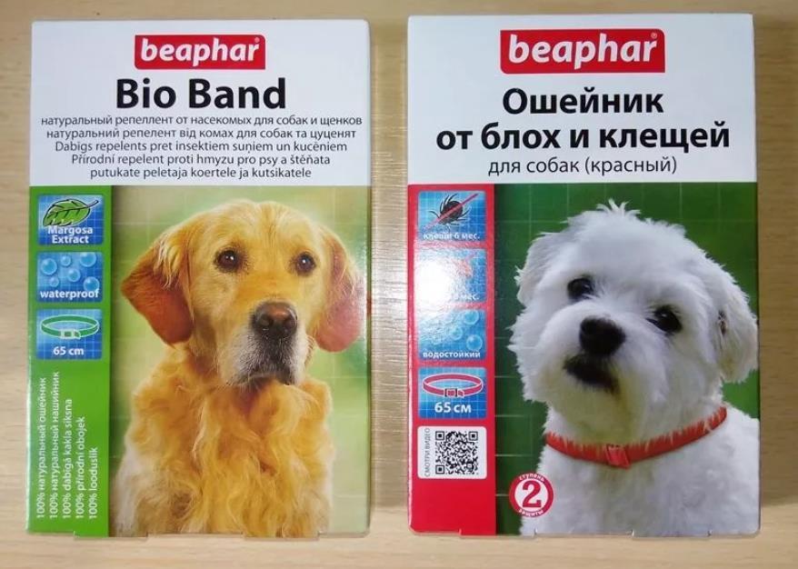 Ошейники от блох и клещей для собак
