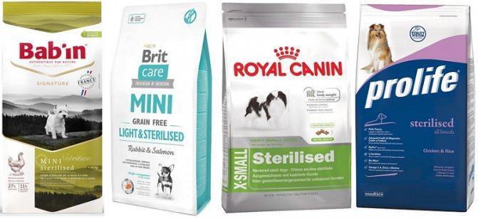 Корм для стерилизованных собак мелких, средних и крупных пород
