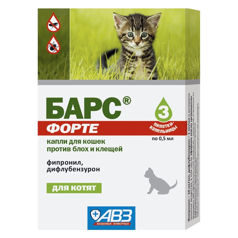 Барс форте для кошек: инструкция от блох и клещей
