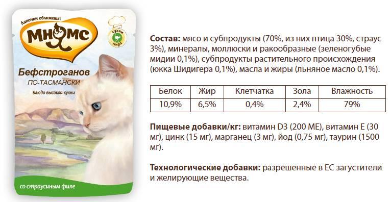 Обзор кормов и лакомств для кошек «Мнямс»: как не запутаться в многообразии