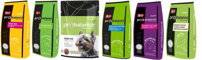 Пробаланс: корм для собак, производитель