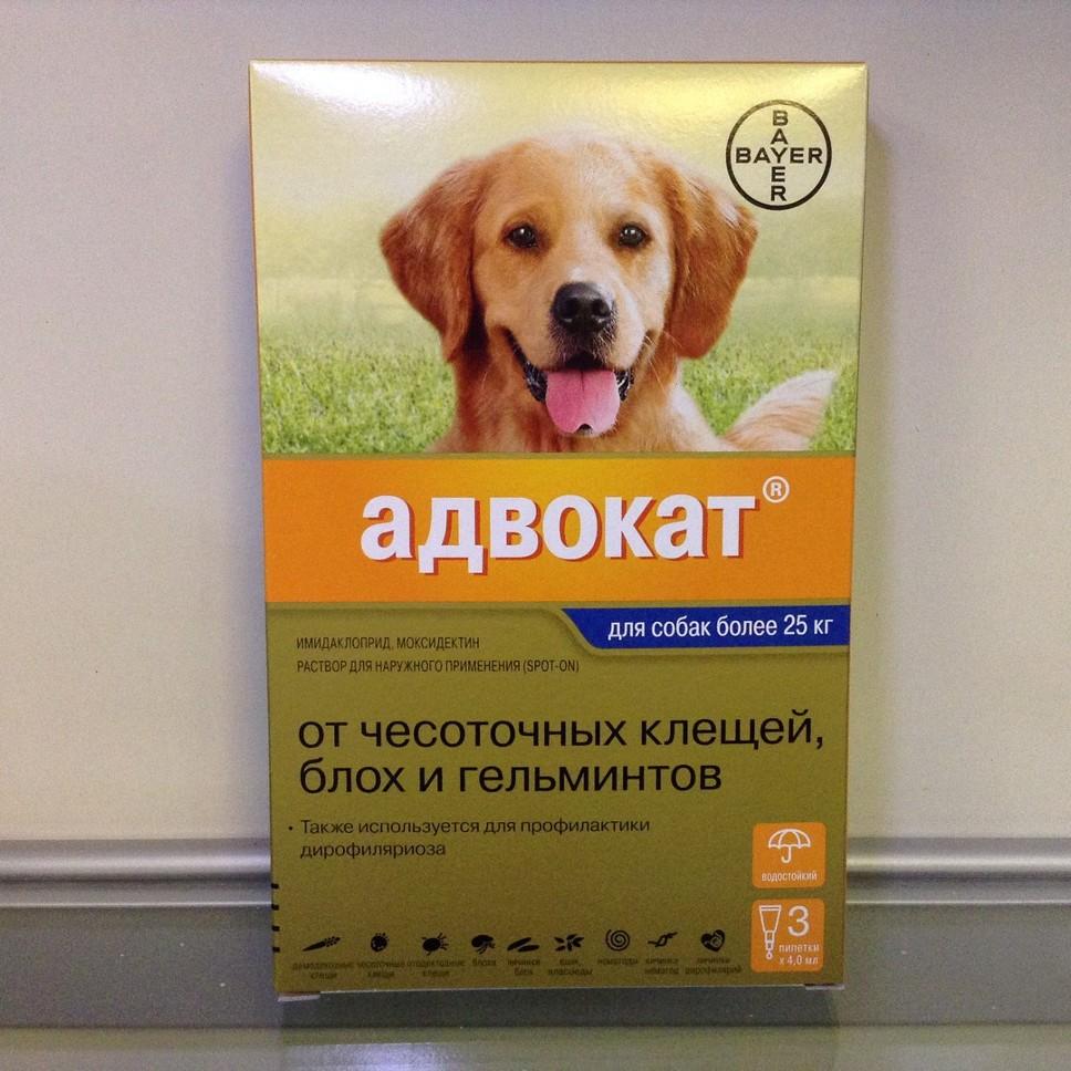 Капли Адвокат для собак