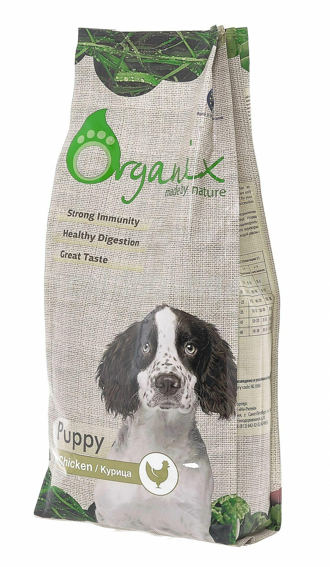 Органикс: корм для собак и щенков, состав