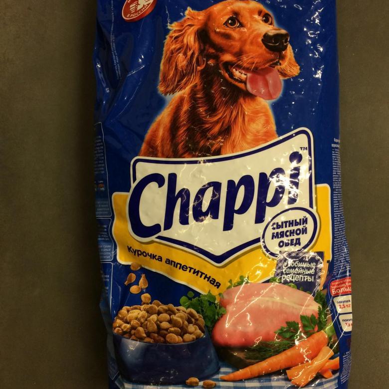 Чаппи: корм для собак и щенков крупных пород
